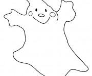 Coloriage et dessins gratuit Fantome sourit à imprimer