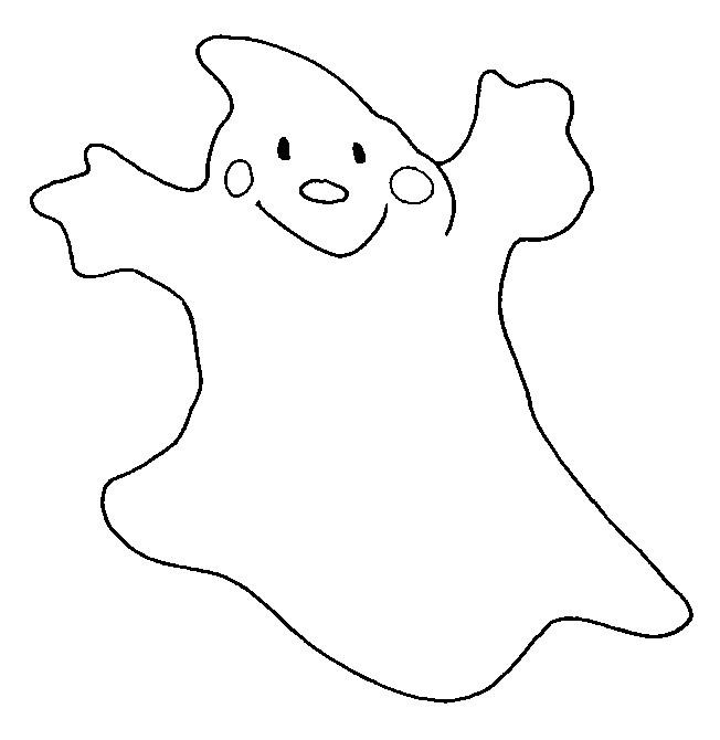 Coloriage et dessins gratuits Fantome sourit à imprimer