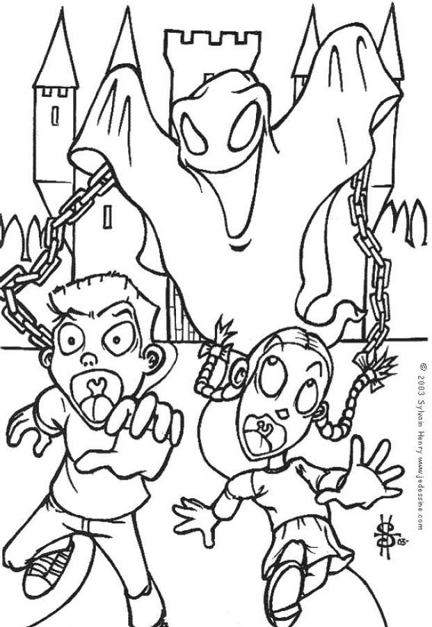 Coloriage et dessins gratuits Fantome très méchant à imprimer