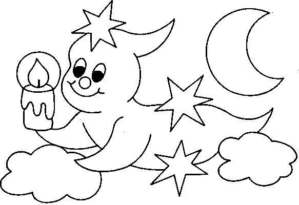 Coloriage et dessins gratuits Fantome très mignon dessin à imprimer