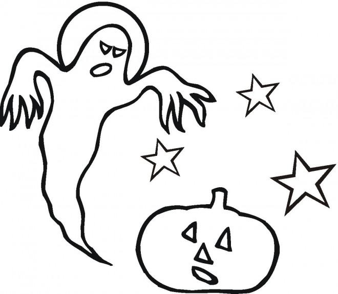 Coloriage et dessins gratuits Halloween citrouille à imprimer