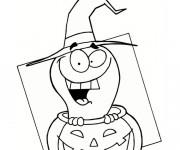 Coloriage Halloween facile dessin