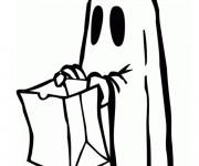 Coloriage Halloween qui fait peur facile