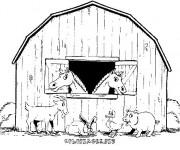 Coloriage Chevaux dans leur stable