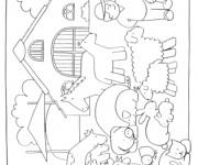 Coloriage et dessins gratuit Ferme agricole à imprimer