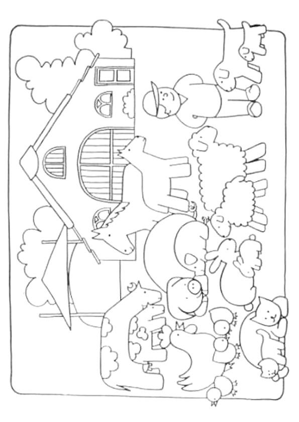 Coloriage Une Ferme.Coloriage Ferme Agricole Dessin Gratuit A Imprimer