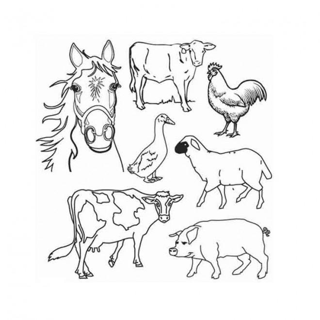 Coloriage et dessins gratuits Ferme et animaux en couleur à imprimer