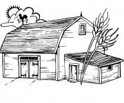 Coloriage et dessins gratuit Ferme facile à imprimer