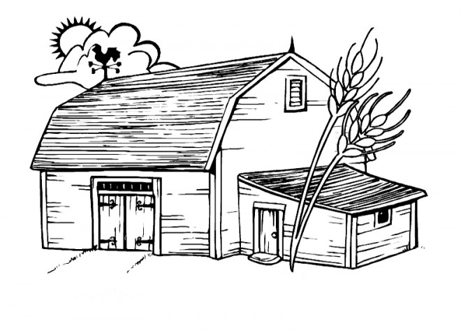 Coloriage ferme facile dessin gratuit imprimer - Coloriage de fermier ...