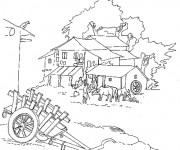 Coloriage et dessins gratuit Ferme maternelle à imprimer