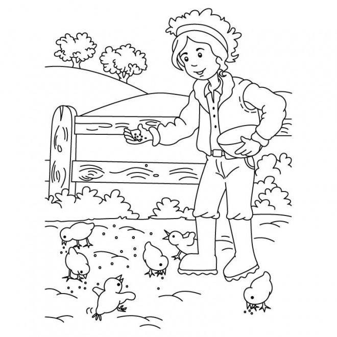 Coloriage et dessins gratuits Fermier 51 à imprimer