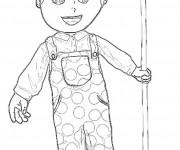 Coloriage Fermier dessin enfant