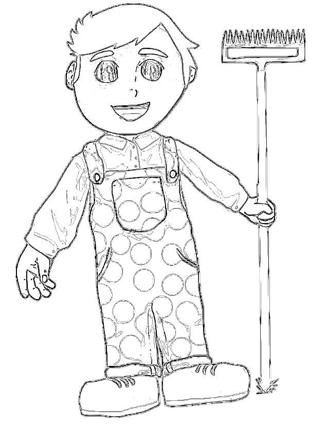 Coloriage et dessins gratuits Fermier dessin enfant à imprimer