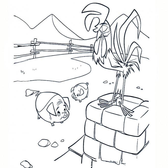 Coloriage et dessins gratuits Le Coq à imprimer