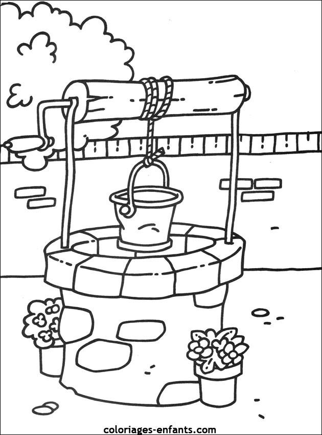 Coloriage et dessins gratuits Le puits à imprimer