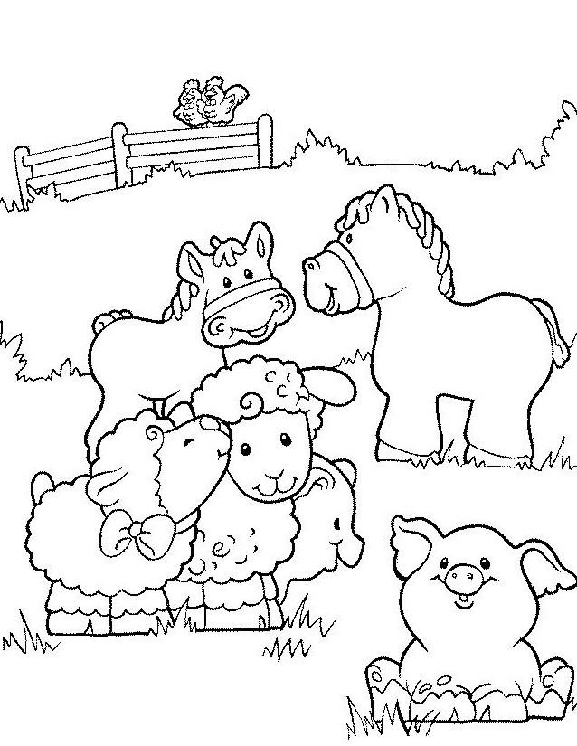 Coloriage et dessins gratuits Les animaux de ferme en couleur à imprimer