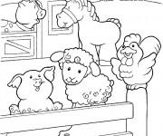 Coloriage Les animaux heureux