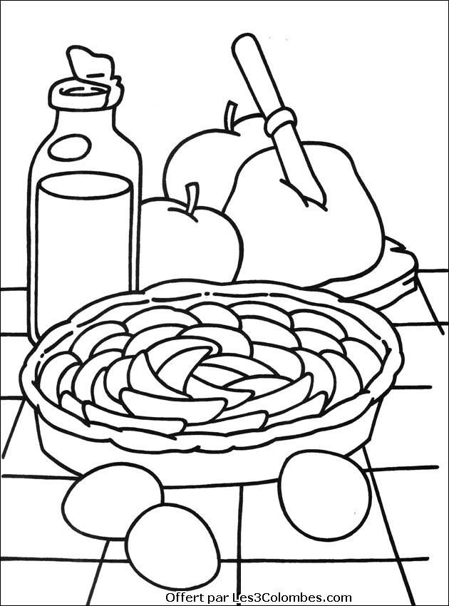 Coloriage et dessins gratuits Petit déjeuner de Ferme à imprimer