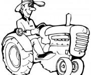 Coloriage et dessins gratuit Tracteur à imprimer