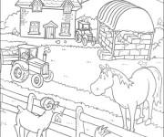 Coloriage Une ferme facile