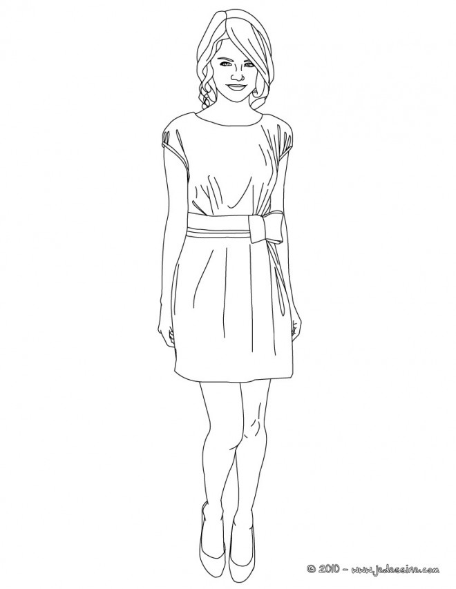 Coloriage et dessins gratuits Fille top model à imprimer