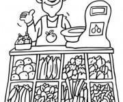 Coloriage et dessins gratuit Fleuriste 10 à imprimer