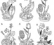 Coloriage Fleuriste 11