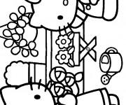 Coloriage Fleuriste 12