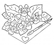 Coloriage Fleuriste 14