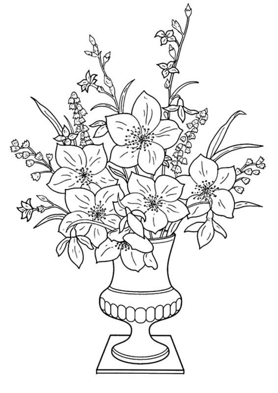 Coloriage et dessins gratuits Fleuriste 15 à imprimer