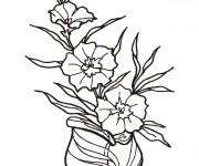 Coloriage Fleuriste 17