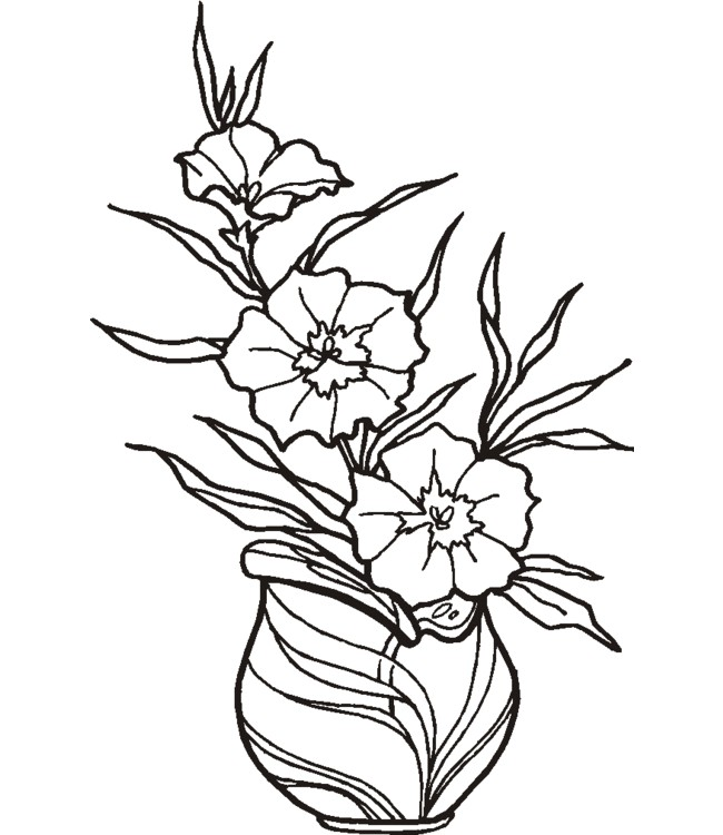 Coloriage et dessins gratuits Fleuriste 17 à imprimer