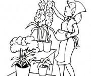 Coloriage Fleuriste 2