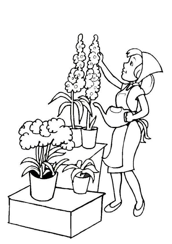 Coloriage et dessins gratuits Fleuriste 2 à imprimer
