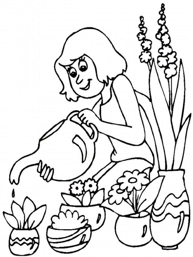 Coloriage et dessins gratuits Fleuriste 4 à imprimer