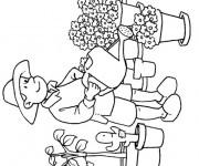 Coloriage et dessins gratuit Fleuriste 5 à imprimer