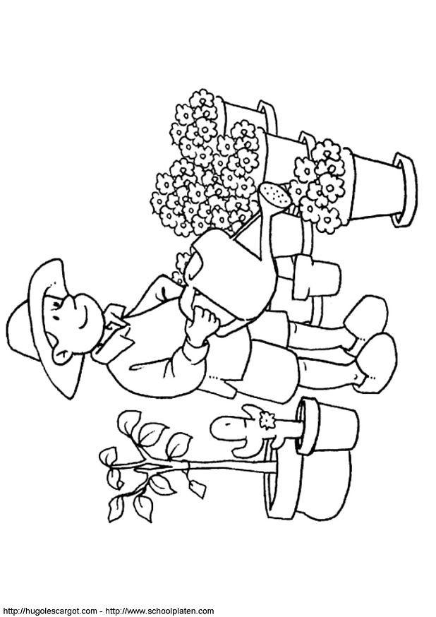 Coloriage et dessins gratuits Fleuriste 5 à imprimer