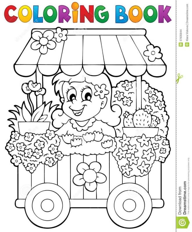 Coloriage et dessins gratuits Fleuriste 6 à imprimer