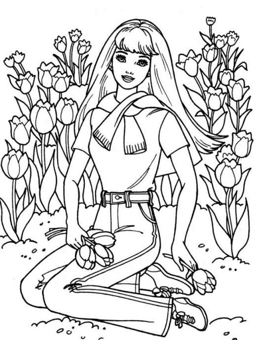 Coloriage et dessins gratuits Fleuriste 7 à imprimer