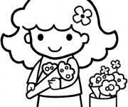 Coloriage et dessins gratuit Fleuriste 8 à imprimer