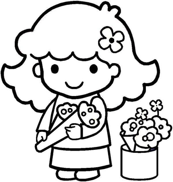 Coloriage et dessins gratuits Fleuriste 8 à imprimer