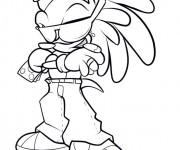 Coloriage Gangster dessin animé
