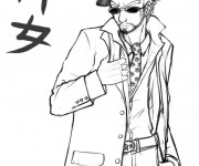 Coloriage Gangster en couleur