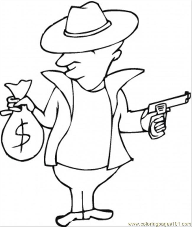 Coloriage et dessins gratuits Gangster et Argent à imprimer