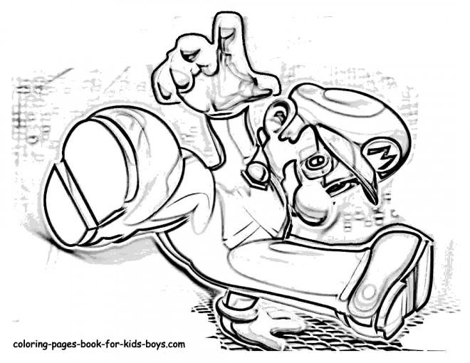 Coloriage et dessins gratuits Gangster Mario à imprimer
