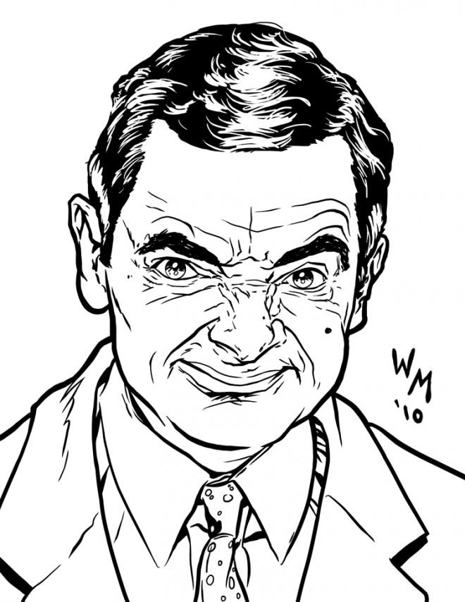 coloriage gangster mr bean dessin gratuit  u00e0 imprimer