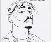 Coloriage et dessins gratuit Gangster Rappeur à imprimer