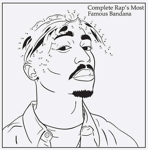 Coloriage et dessins gratuits Gangster Rappeur à imprimer