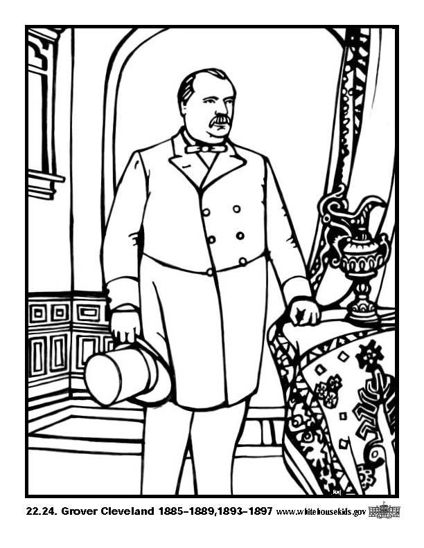 Coloriage et dessins gratuits Grover Cleveland à imprimer