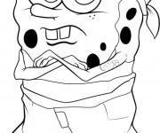 Coloriage et dessins gratuit Spongebob Bandit à imprimer